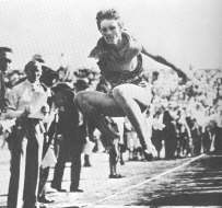 Babe Didrikson In Broad Jump