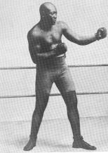 Boxer Jack Johnson early 1900s.